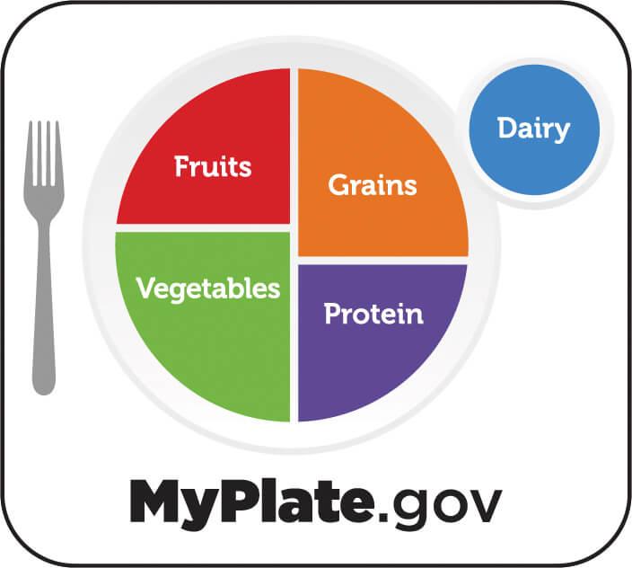 米国農務省(USDA)「マイプレート(My Plate)」